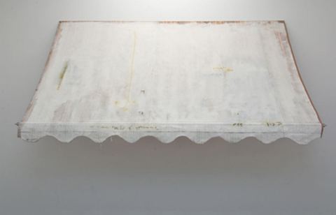L. Budd, untitled N.D. (c.1997) awning, acrylic paint, 135 x 550 x 110cm; courtesy of the artists