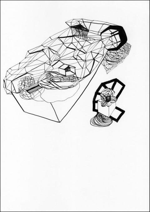 03. Justyna Scheuring, Untitled, ink drawing, 841 x 594mm; image courtesy of the artist