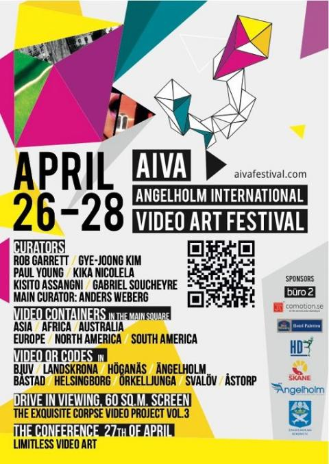 Ängelholm International Video Art Festival (AIVA) Festival poster, April 2012, Ängelholm, Sweden