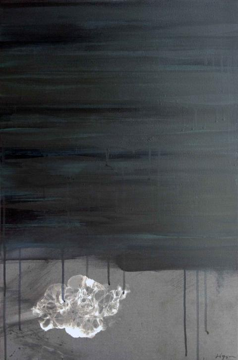 Alby Yap, Phantom Soul 2012, mixed media on canvas, 500 x 700mm; image courtesy of the artist