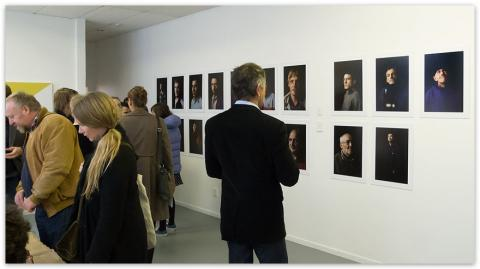 Alexander Ilin's portrait project in Lost in a Dream at Snake Pit; photo by Sait Akkirman courtesy of artsdiary.co.nz