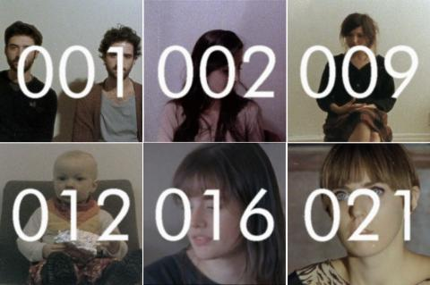 Andrew de Freitas, Screentests 2010-12 (Stills 1, 2, 9, 12, 16, 21), 8mm color film with digital transfer, each approximately 1.00 minute; images courtesy of the artist