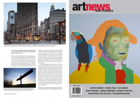 Antony Gormley interview, ArtNewsNZ Winter 2015, p78 & cover