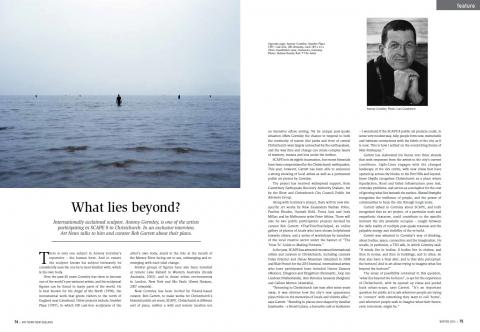 Antony Gormley interview, ArtNewsNZ Winter 2015, pp74-5