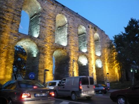 Aquaduct near the Golden Horn, Istanbul, photo by Rob Garrett