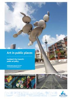 Art in public places: Auckland City Council's public art policy, August 2008 (author: Rob Garrett)
