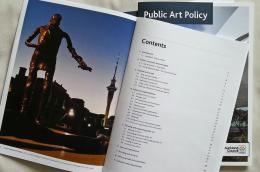 Auckland Council Public Art Policy publication; photo by Rob Garrett