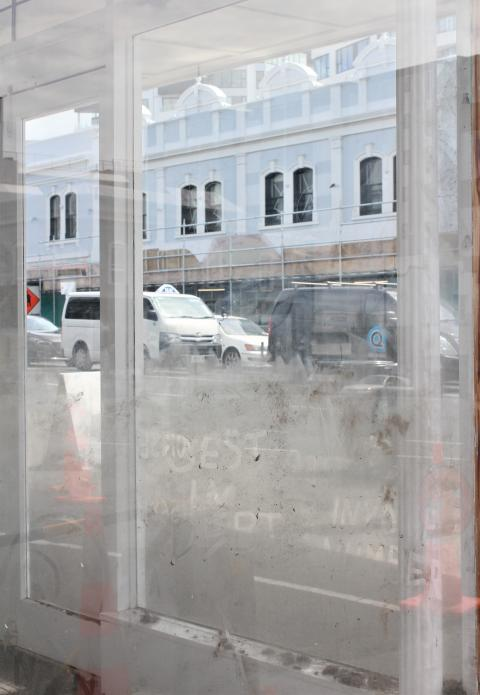 Bent (CL_NZ), time in material form (2018), site-specific installation at Corner Window Gallery; photo by Bent