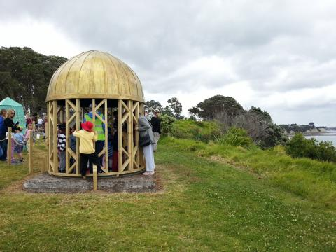 Brendan McGorry, Holy of Holies 2012, NZ Sculpture OnShore exhibition 2012; photo by Rob Garrett