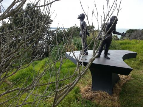 Chris Moore, In the Shadows 2012, NZ Sculpture OnShore 2012; photo by Rob Garrett