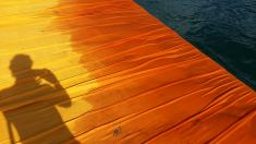 "Christo and Jean-Claude's ""The Floating Piers"" 2016, Lake Iseo, Italy; photo by Rob Garrett (2016-06-28)"