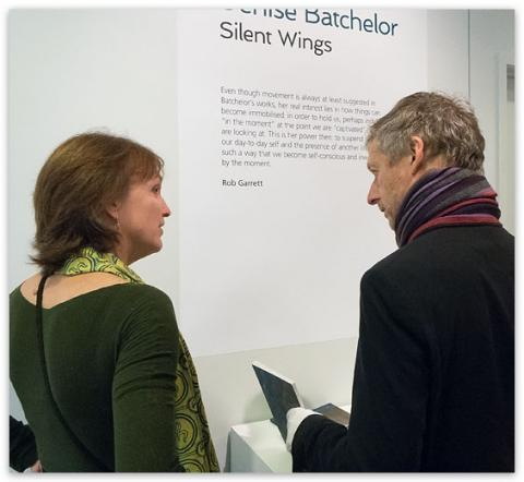 Denise Batchelor & Rob Garrett at Silent Wings opening, Lopdell House Gallery; photo courtesy of artsdiary.co.nz