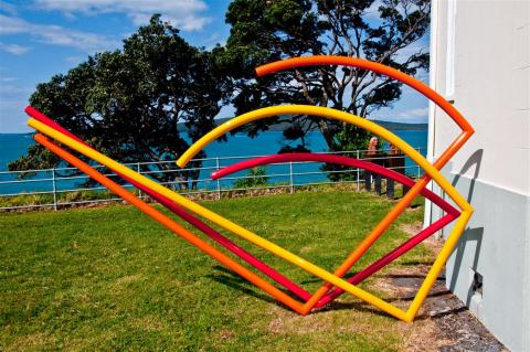 Gary Smith, Bounce 2012, NZ Sculpture OnShore exhibition 2012; photo courtesy of NZSOS