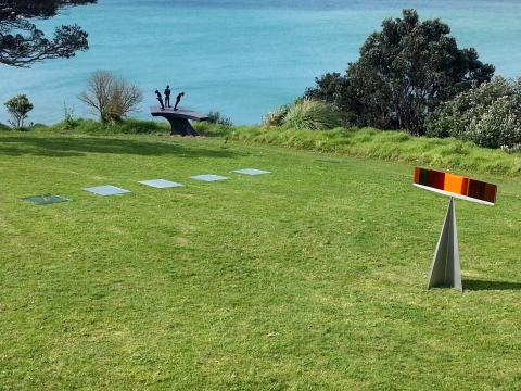 Ian Boyle, Chris Moore and Colleen Ryan-Priest, NZ Sculpture OnShore 2012; photo by Rob Garrett
