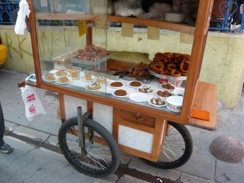 Sweets and cakes, Tünel, Istanbul, photo by Rob Garrett