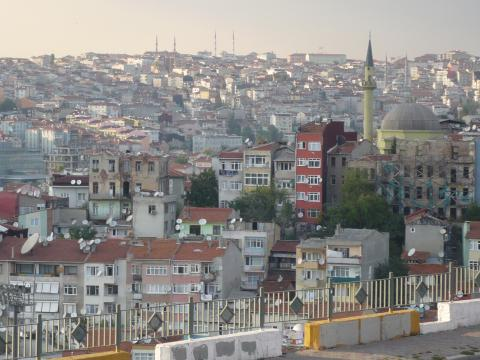 View from Beyoglu, Istanbul, photo by Rob Garrett