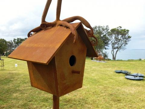 Jamie Pickernell, Come Down From There At Once! (detail) 2012, NZ Sculpture OnShore 2012; photo by Rob Garrett