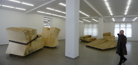 Joseph Beuys, Unschlitt/Tallow 1977, Marx Collection, Hamburger Bahnhof, Berlin; photo by Rob Garrett