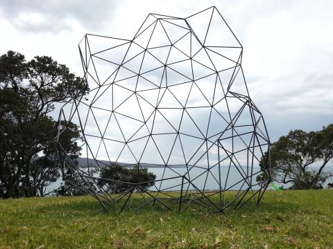 Kiyun Lee, Untitled 2012, NZ Sculpture OnShore exhibition 2012; photo by Rob Garrett