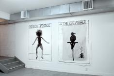 Lonnie Hutchinson, 'Hoodoo Voodoo' and '...and The Kingfisher'; The Blue Room exhibition, curated by Pippa Sanderson 2008