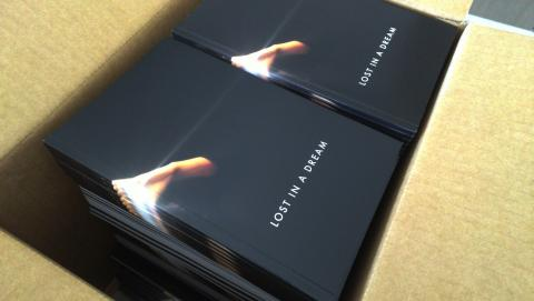 Lost in a dream catalogues fresh from the printers 1 week out from the Vernissage...