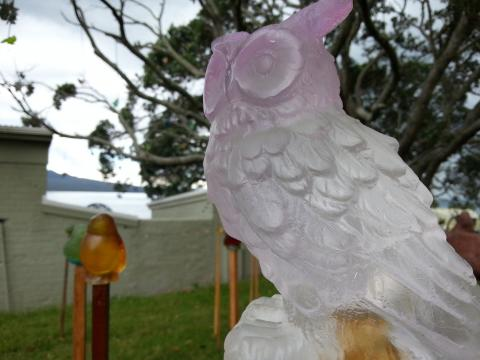 Lou Pendergrast-Mathieson and Aja Pendergrast, What a Hoot (detail) 2012, NZ Sculpture OnShore 2012; photo by Rob Garrett