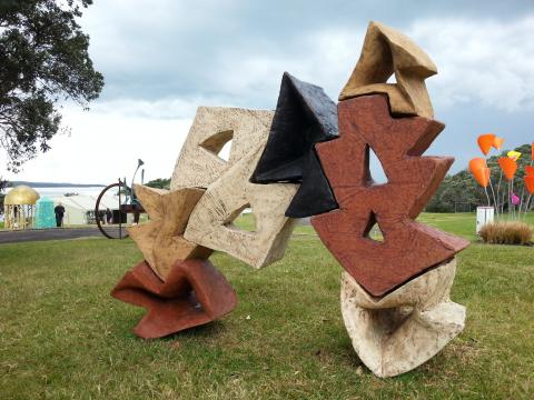 Matt McLean, Turn About 2012, NZ Sculpture OnShore 2012; photo by Rob Garrett