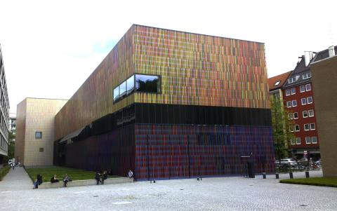Museum Brandhorst, Munich, by Sauerbruch Hutton Architects; photo by Rob Garrett