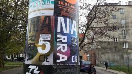 NARRACJE 5 posters on ul. Świętojańska, Gdansk, 07-11-13; photo by Rob Garrett