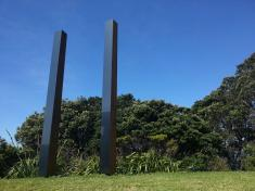 Natalie Guy's elegant columns at Sculpture OnShore.