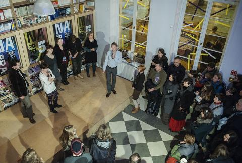 Opening Narracje 5 at IKM 15-11-2013; phot by Bogna Kociumbas