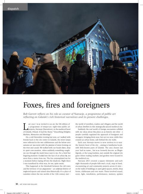 p1 rob garrett foxes fires and foreigners art news new zealand autumn 2014