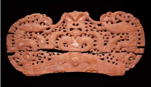 Pare (Maori door lintel), Peabody Essex Museum 19th century