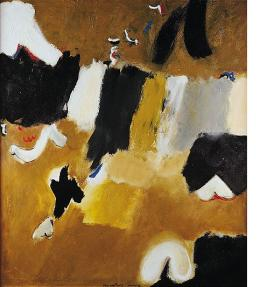 Patrick Hanly, New Order 28 Part II, oil on board 980 x 855, signed & dated 1963