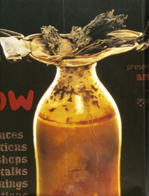 Richard Crow, Artists at Work residency and national tour poster (detail), 1999