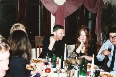 Richard Crow residency, Ravens Feast hosted by Wayne Everson & Artists at Work, Dunedin, 23 July 1999, w Richard Crow & Emily Barr