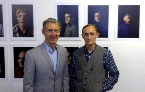 Rob Garrett and Alexander Ilin at the Vernissage
