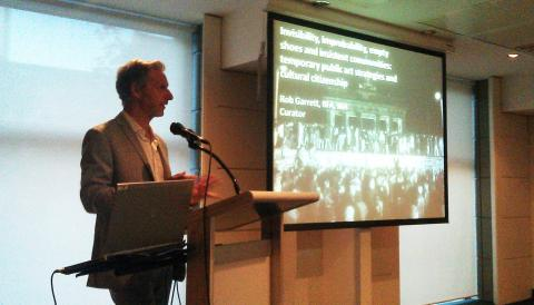 Rob Garrett lecture for La Trobe University, State Library of Victoria; photo by Isabella Holding