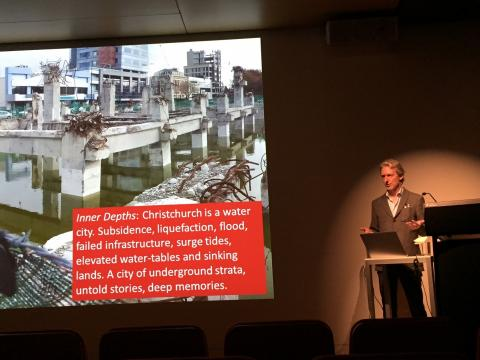 Rob Garrett public talk, Auckland Art Gallery, April 16, 2015; photo by Philip Tse