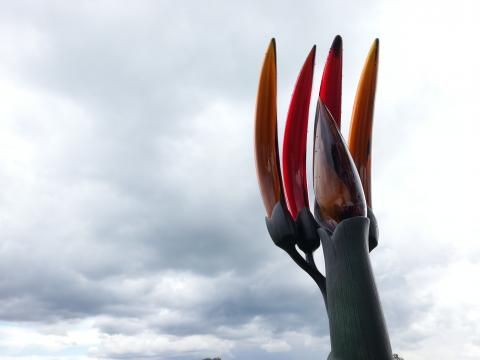 Ron Reichs, Gondwana Banana (detail) 2012, NZ Sculpture OnShore 2012; photo by Rob Garrett