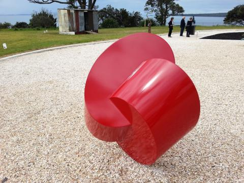 Russell Beck, Change 2012, NZ Sculpture OnShore 2012; photo by Rob Garrett
