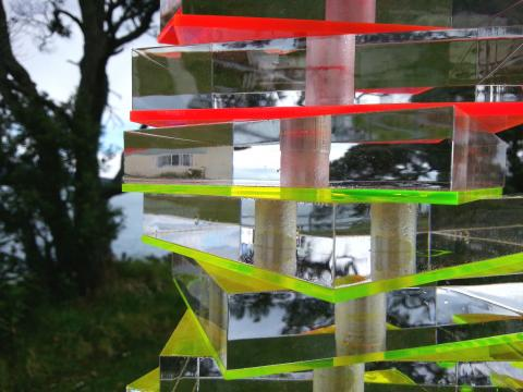 Sally Tagg, Light Totem (detail) 2012, NZ Sculpture OnShore 2012; photo by Rob Garrett