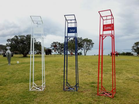 Sean Crawford, NZ Sculpture OnShore 2012; photo by Rob Garrett