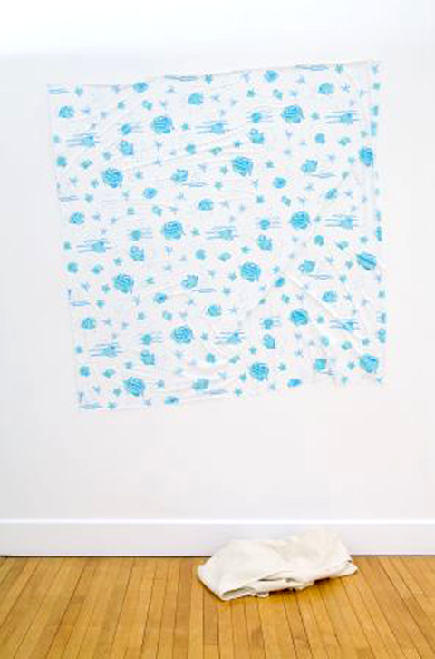 Simon Denny, Untitled (Blue Fish) (2007), image courtesy of the artist and Michael Lett, Auckland