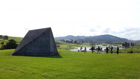 Sol LeWitt, Pyramid (Keystone NZ) 1997, Gibbs Farm; photo by Rob Garrett