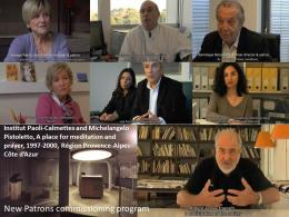 "Stills from video on ""A Place for Meditation and Prayer"" (1997-2000), Michelangelo Pistoletto and the Paoli-Calmettes Institute de Marseille; New Patrons"