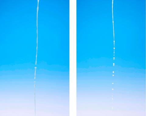 Sylvie Chasteau, Semen (left) and Breast Milk (right), 2013, each photograph 841 x 594 mm; images courtesy of the artist