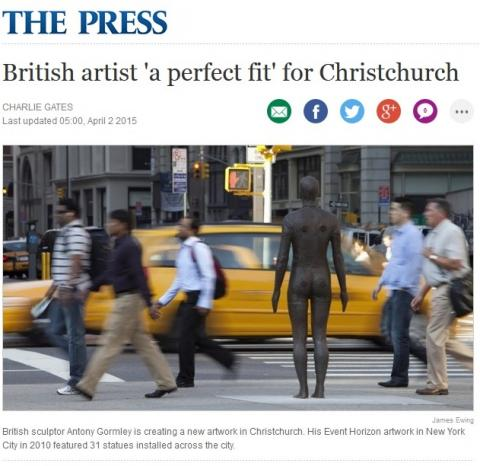 The Press, British artist a perfect fit, April 2, 2015