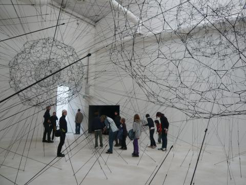 Tomás Saraceno, 'Galaxies forming along filaments, like droplets along the strands of a spider's web' 2009, Venice 2009, photo by Rob Garrett