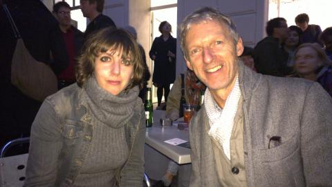 Virginie Mossé and Rob Garrett meeting at the 7th Berlin Biennale, Berlin, April 2012; photo courtesy of Rob Garrett